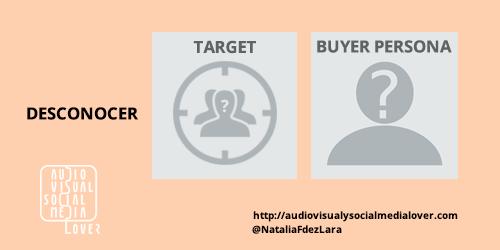 """fallo número uno en redes sociales - no investigar el target y """"buyer persona"""""""
