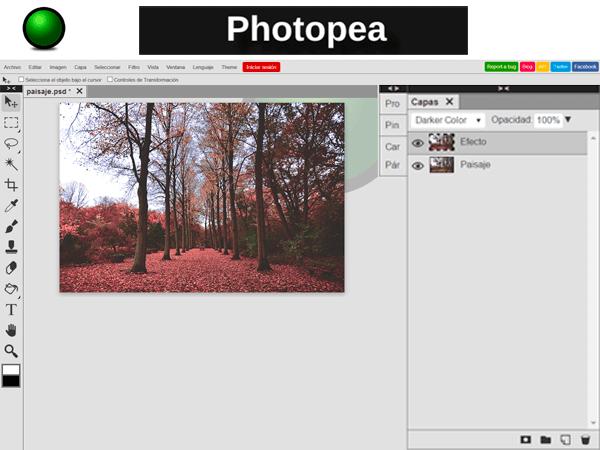 edita tus fotos online con Photopea