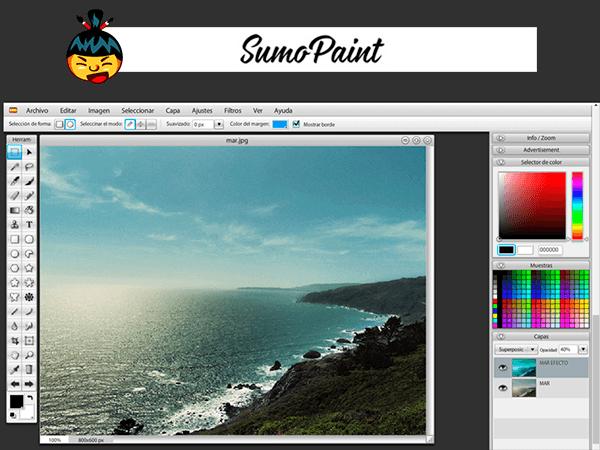 SumoPaint, programa de edición de fotos online