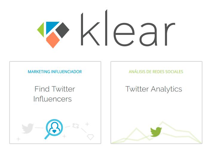Klear, herramienta para analizar y medir influencia en Twitter y otras redes sociales