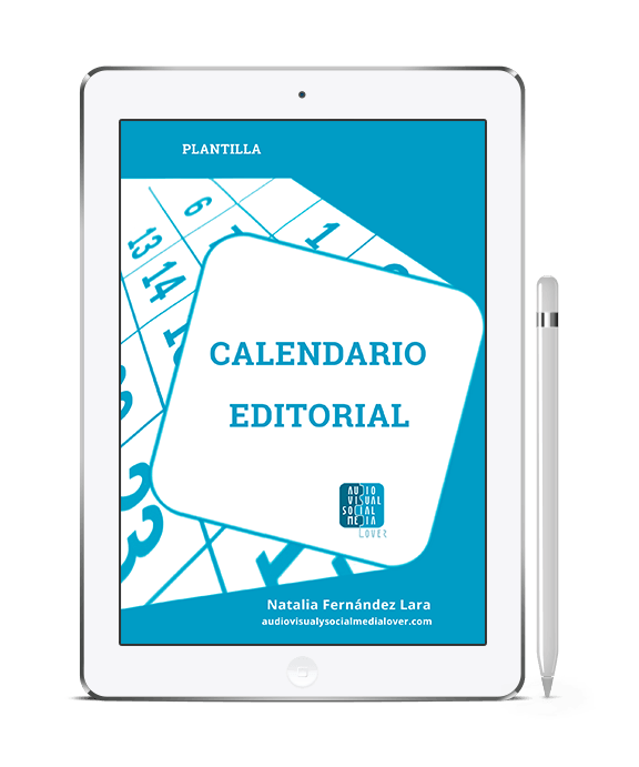 Plantilla de calendario editorial para blog